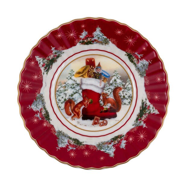 Toy's Fantasy mała miska but, kolorowa/czerwona/biała, 16 x 16 x 3 cm, , large