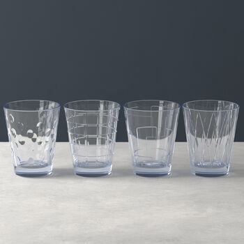 Dressed Up zestaw szklanek do wody Blue 4 el.