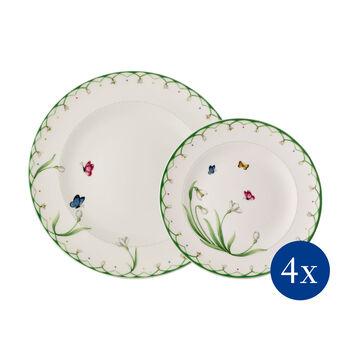 Colourful Spring zestaw talerzy, 8-częściowy, dla 4 osób