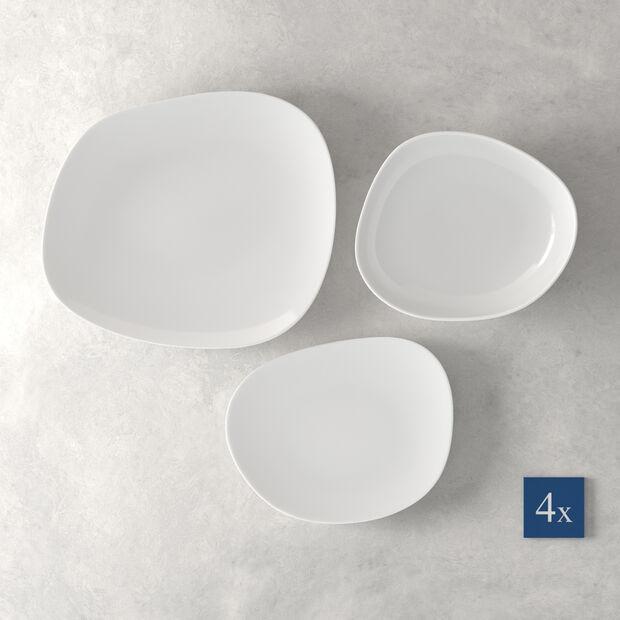 Organic White zestaw talerzy Starter Set, biały, 12-częściowy, , large