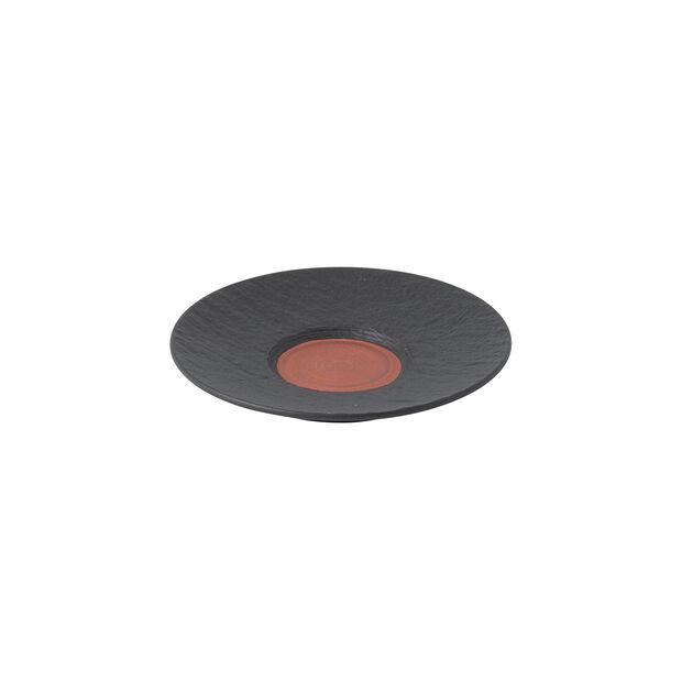 Manufacture Rock Glow spodek do filiżanki do espresso, miedziany/czarny, 12 x 12 x 2 cm, , large