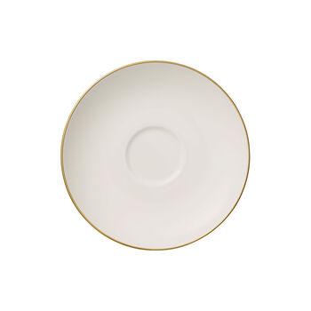 Anmut Gold spodek do filiżanki do kawy, biały/złoty