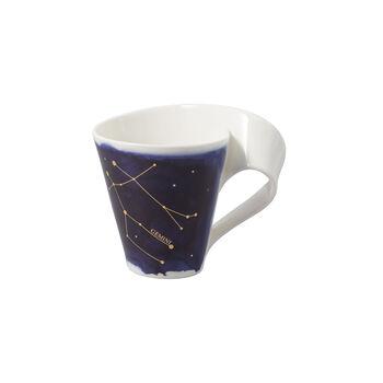 NewWave Stars kubek Bliźnięta, 300 ml, niebieski/biały