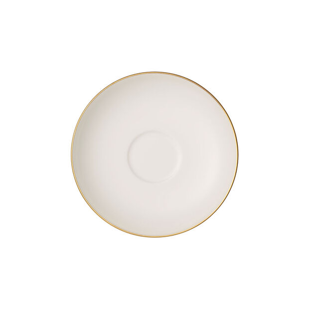 Anmut Gold spodek do filiżanki do mokki i espresso, średnica 12 cm, biały/złoty, , large