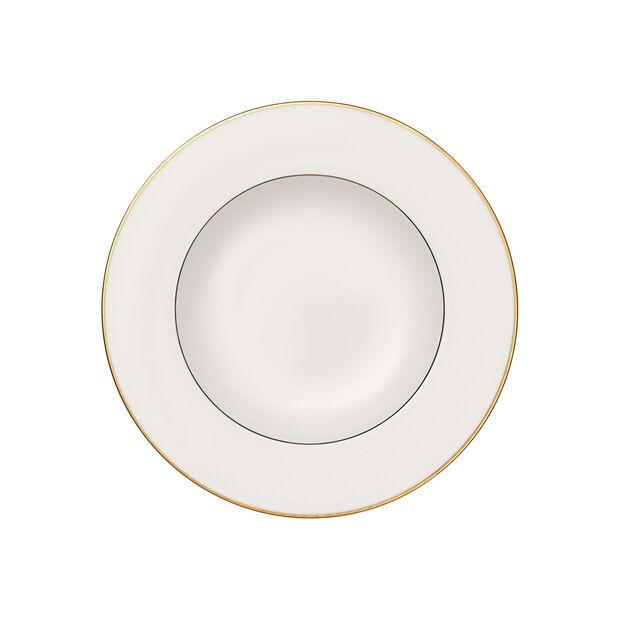 Anmut Gold talerz głęboki, średnica 24 cm, biały/złoty, , large