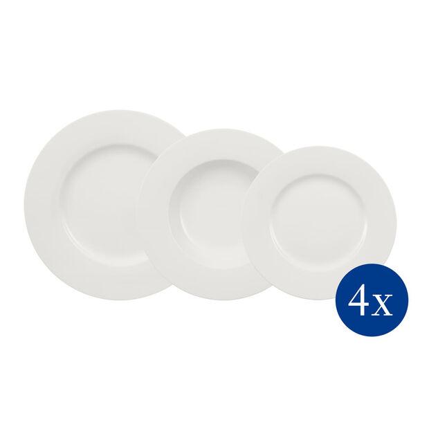 Wonderful World White zestaw talerzy 12-częściowy, , large