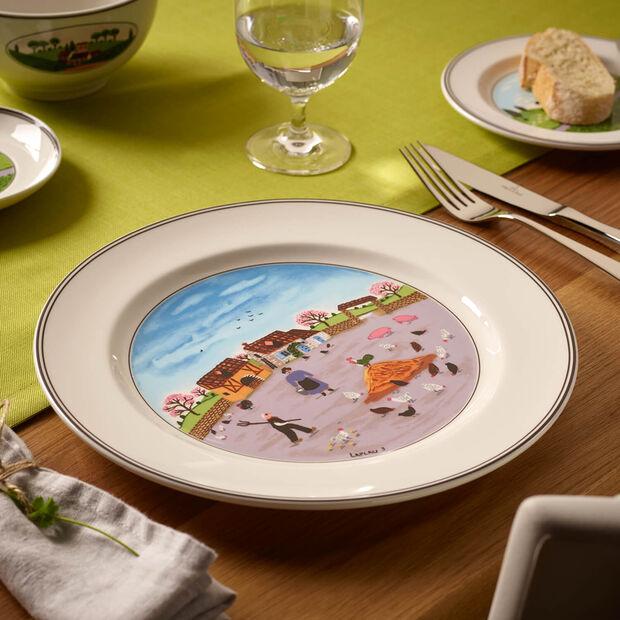 Design Naif talerz płaski podwórko dla kur, , large