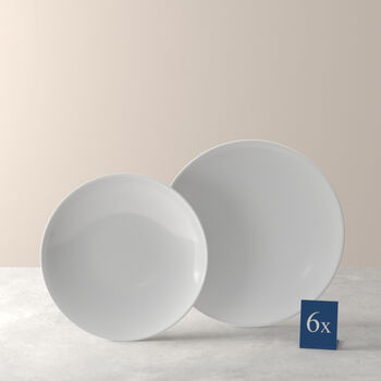 Voice Basic zestaw naczyń stołowych, biały, 12-częściowy