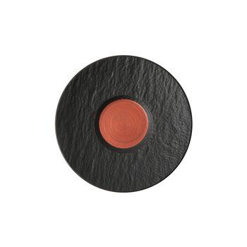 Manufacture Rock Glow spodek do filiżanki do białej kawy, miedziany/czarny, 17 x 17 x 2 cm