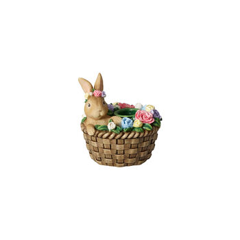 Bunny Tales świecznik, zając w koszyku