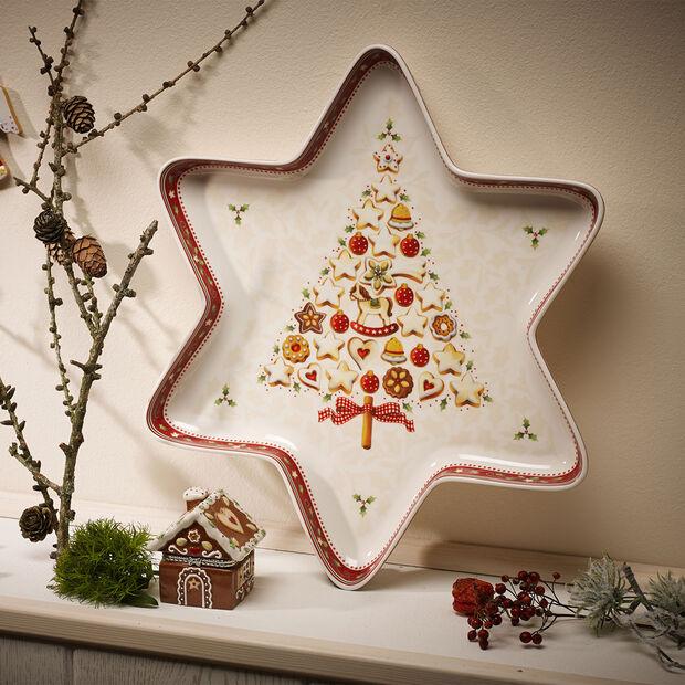 Winter Bakery Delight duża miska gwiazda, , large