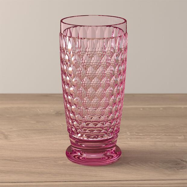 Boston Coloured Szklanka long drink różowa, , large
