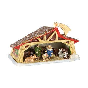 Christmas Toy's Memory szopka, kolorowa, 27 x 16 x 16 cm