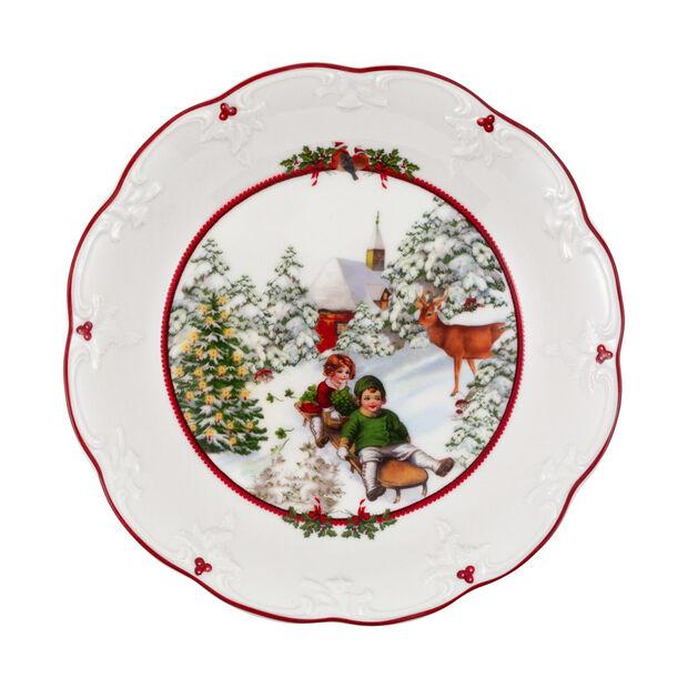 Toy's Fantasy duża miska sanna, kolorowa/czerwona/biała, 24,5 x 24,5 x 4 cm, , large