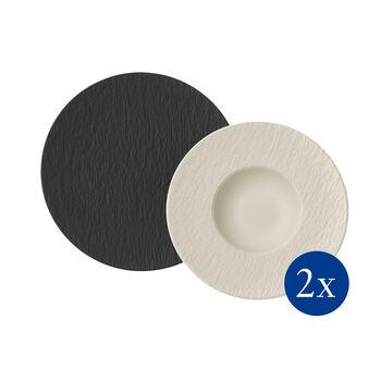 Manufacture Rock zestaw do makaronu, 4-częściowy, dla 2 osób, czarny/biały