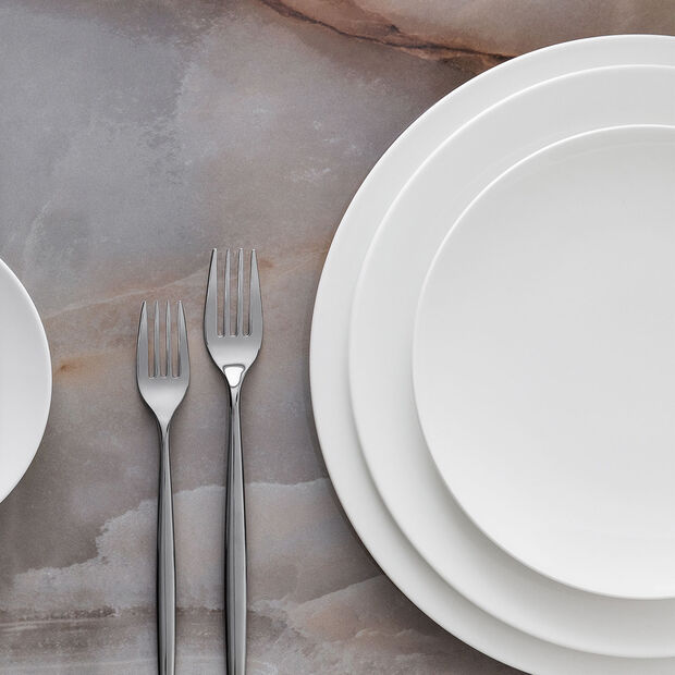 MetroChic blanc Talerz obiadowy 27x27x2cm, , large