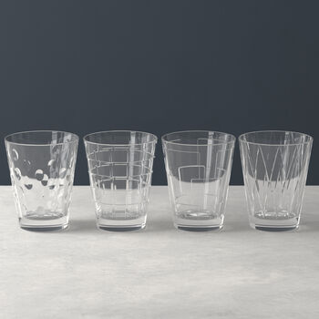 Dressed Up zestaw szklanek do wody Clear 4 el.