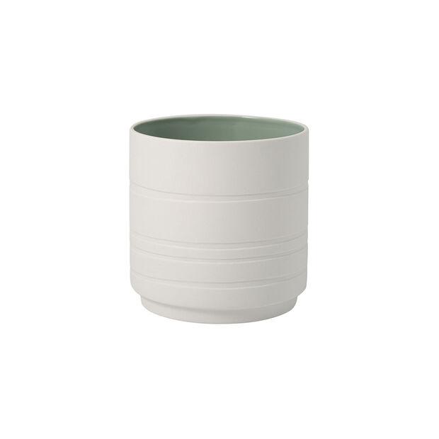 it's my home doniczka Leaf, zielony/biały, , large