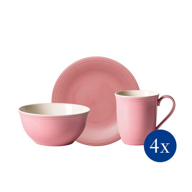 Color Loop Rose zestaw śniadaniowy, różowy, 12-częściowy, , large