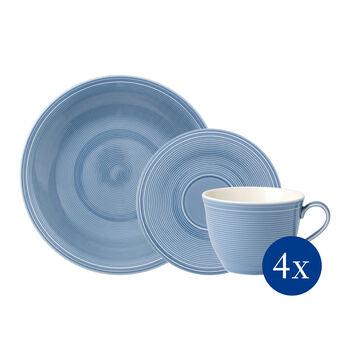Color Loop Horizon zestaw do kawy, błękitny, 12-częściowy