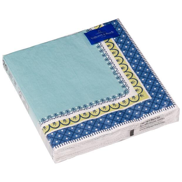 Papierowe serwetki Casale blu, 20 sztuk, 33x33cm, , large