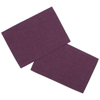 Textil Uni TREND podkładka fioletowa zestaw 2-częściowy 35x50cm