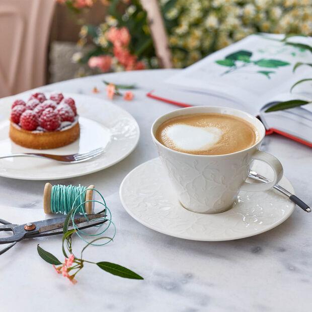 Caffè Club Floral Touch Spodek do filiżanki do białej kawy, , large