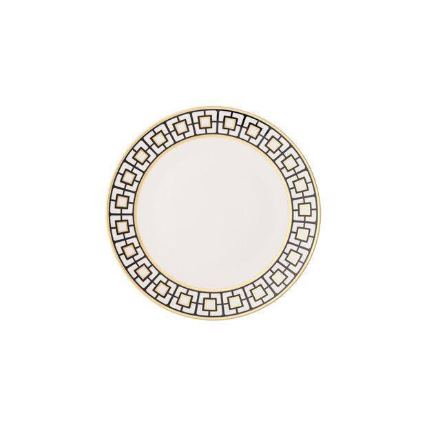 MetroChic talerzyk do pieczywa, biało-czarno-złoty, , large