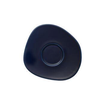 Organic Dark Blue spodek do filiżanki do kawy, ciemnoniebieski, 17,5 cm