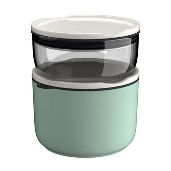 ToGo&ToStay zestaw pojemników na lunch, 2-częściowy, szklany, biały/miętowy