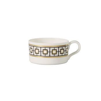 MetroChic filiżanka do herbaty, 230 ml, biało-czarno-złota
