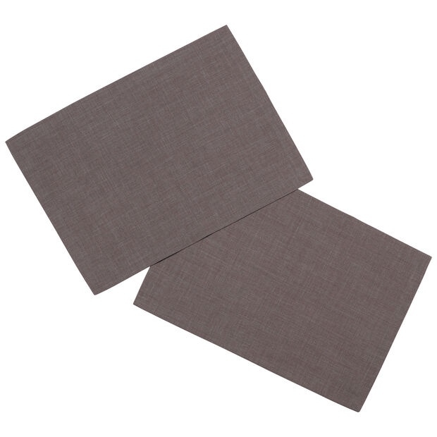 Textil Uni TREND podkładka grafitowa zestaw 2-częściowy 35x50cm, , large