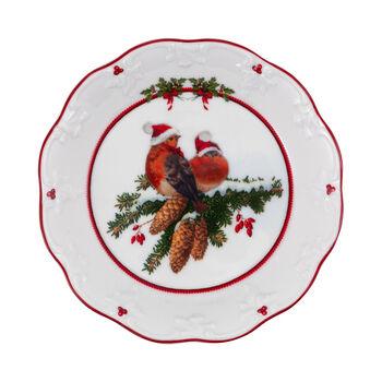 Toy's Fantasy mała miska ptaki, kolorowa/czerwona/biała, 17 x 17 x 3 cm