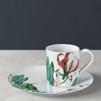 Avarua filiżanka do kawy ze spodkiem, 210ml, biała/wielokolorowa