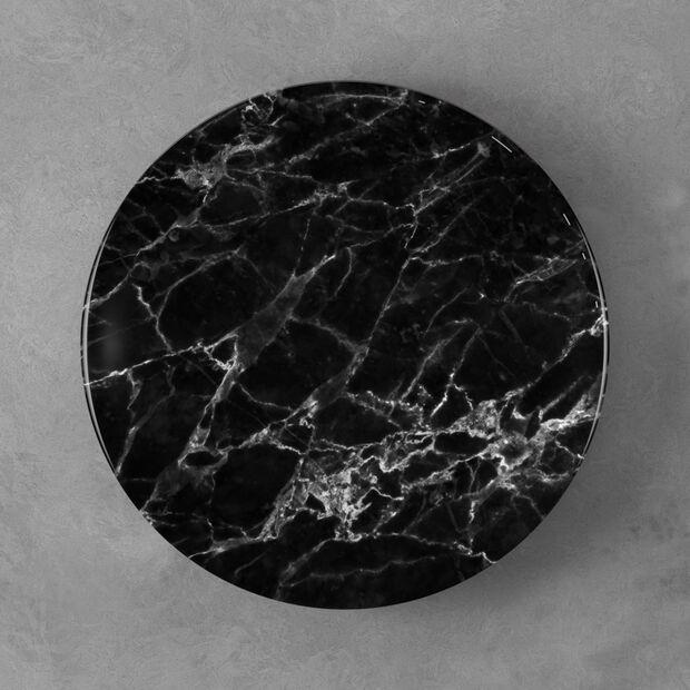 Marmory talerz płaski Black, 27x27x1,5cm, , large