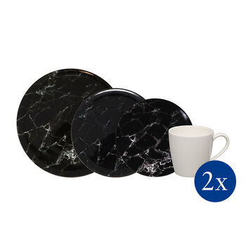 Marmory zestaw łączony Black, czarny, 8-częściowy