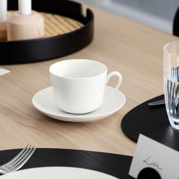 Twist White Spodek do filiżanki do kawy/herbaty 14cm, , large