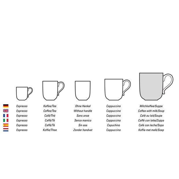 Charm & Breakfast Design Naif filiżanka do białej kawy XL, , large