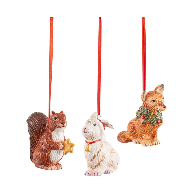 Nostalgic Ornaments zestaw ozdób leśne zwierzęta, 6 x 7 cm, 3-częściowy, , large