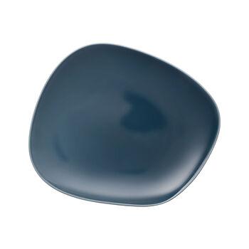 Organic Turquoise talerz płaski 28 x 24 x 3cm