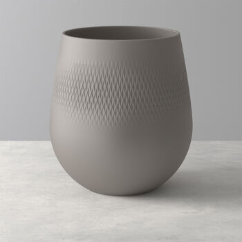 Manufacture Collier wazon, 21x23 cm, Carré, brązowoszary