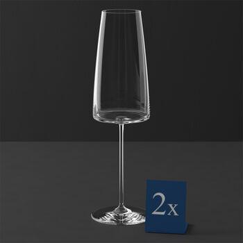 MetroChic kieliszek do szampana, 2 szt., 450 ml