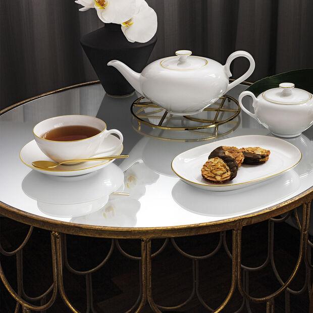 Anmut Gold filiżanka do herbaty, 200 ml, biała/złota, , large