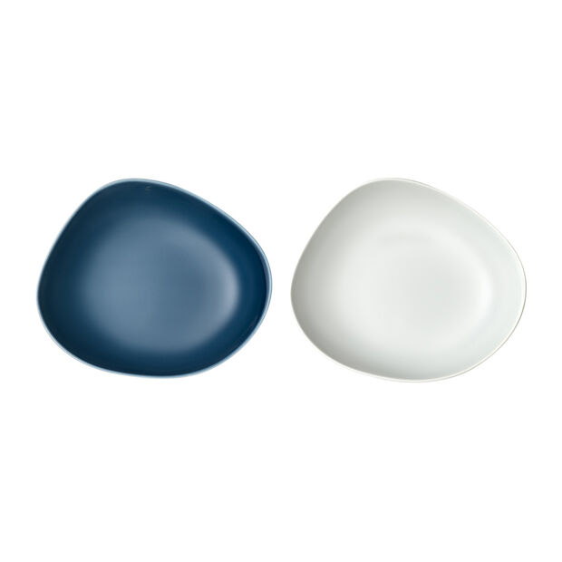Organic Talerz głęboki, zestaw 2-częściowy, turkusowy/biały, , large