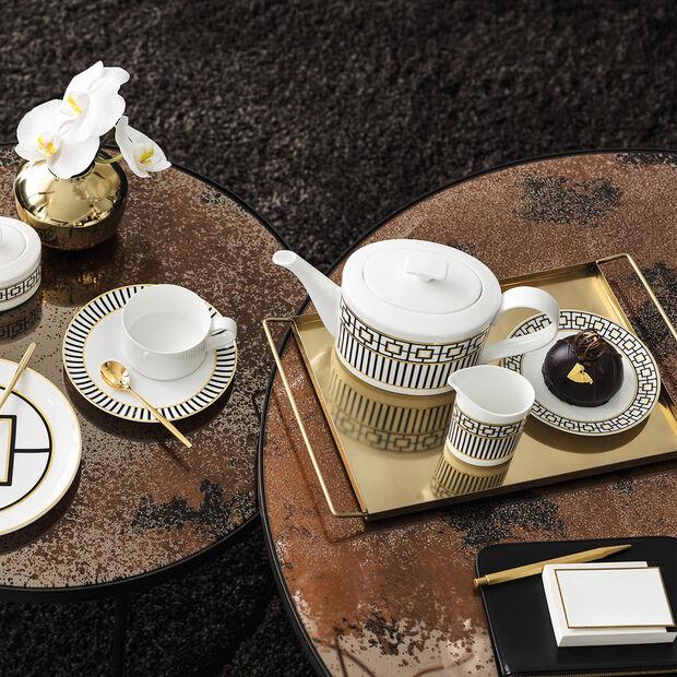 MetroChic dzbanek do kawy i herbaty, 1,2 l, biało-czarno-złoty, , large