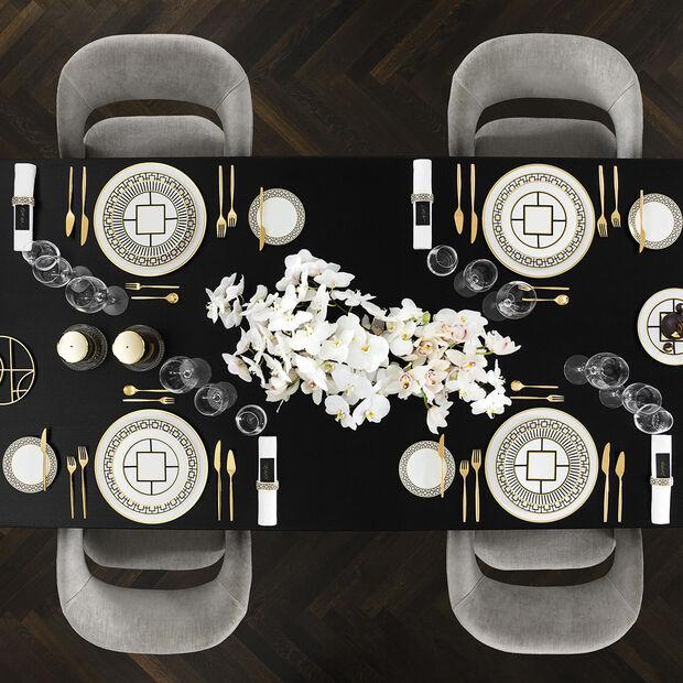 MetroChic talerz bufetowy i na ciasto, średnica 33 cm, biało-czarno-złoty, , large