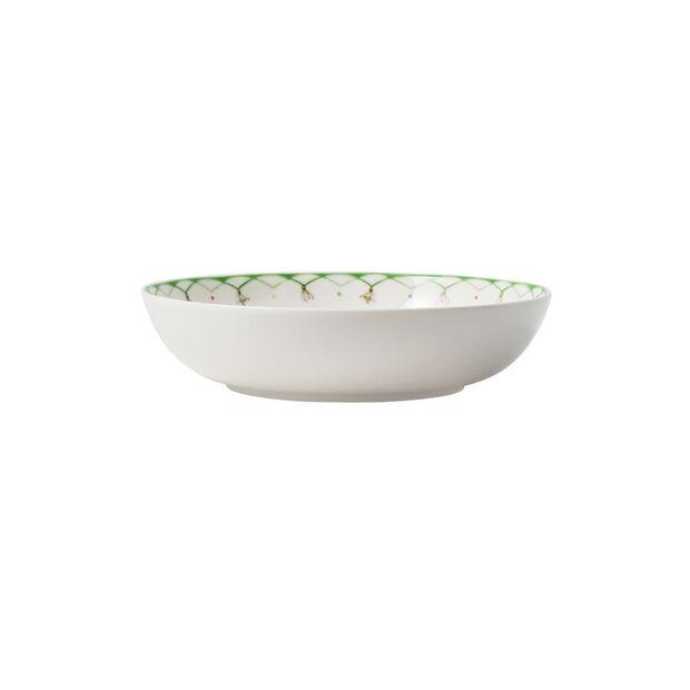 Colourful Spring talerz sałatkowy, 720 ml, biały/zielony, , large