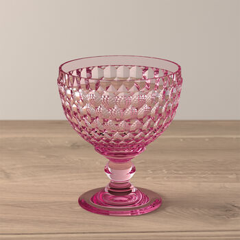 Boston Coloured szampanówka i pucharek, różowy, 12,5 cm