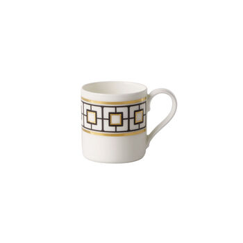 MetroChic filiżanka do mokki i espresso, 80 ml, biało-czarno-złota