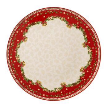 Winter Bakery Delight okrągły talerz do ciasta ostrokrzew